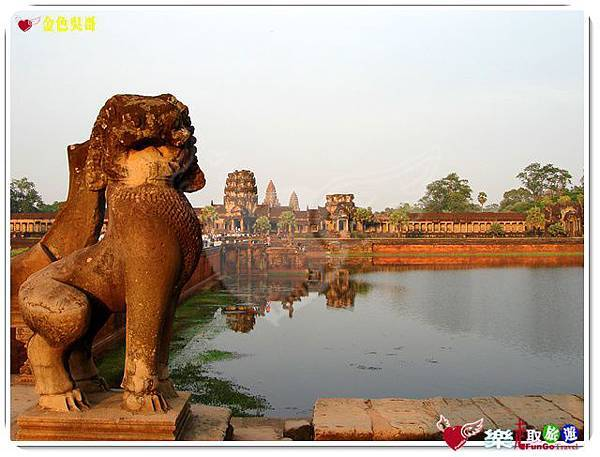 金色吳哥-小吳哥窟AngkorWat護城河-04