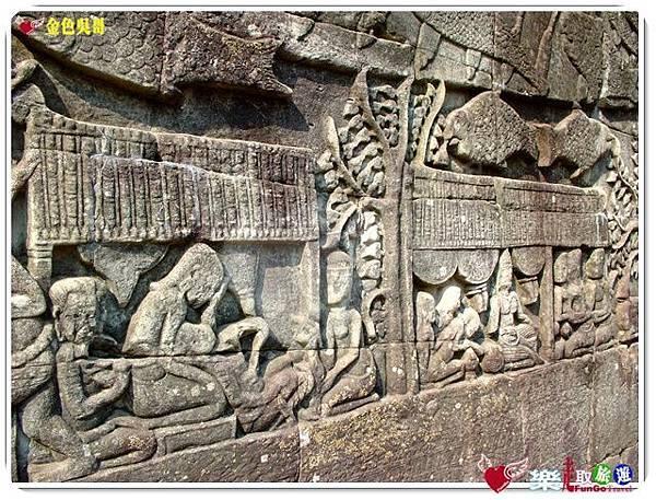 金色吳哥-大吳哥窟Angkor Thom-Bayon百因廟-14