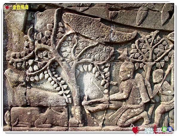 金色吳哥-大吳哥窟Angkor Thom-Bayon百因廟-15