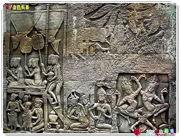 金色吳哥-大吳哥窟Angkor Thom-Bayon百因廟-19