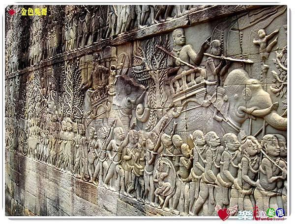 金色吳哥-大吳哥窟Angkor Thom-Bayon百因廟-17