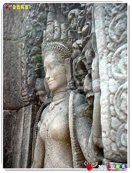 金色吳哥-大吳哥窟Angkor Thom-Bayon百因廟-41