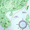 周達觀航海路線圖