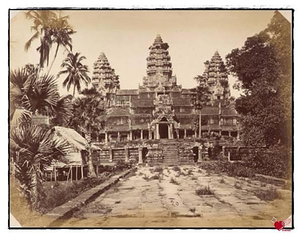 1866年法國攝影師艾米爾·基瑟爾拍攝的吳哥窟照片