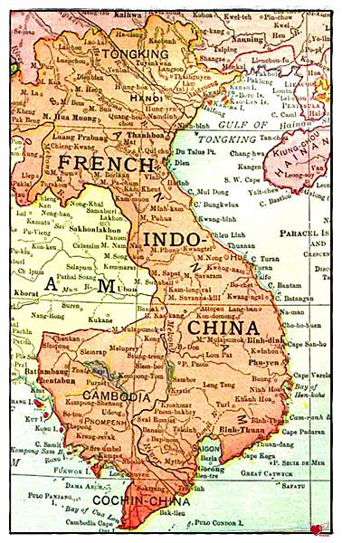Indochine_française_(1913)-法國統治印度支那時期地圖1863-1953