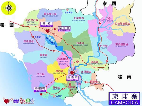 地圖-柬埔寨