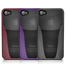 iSkin solo vu iPhone4 / iPhone4S 經典雙色抗菌保護套