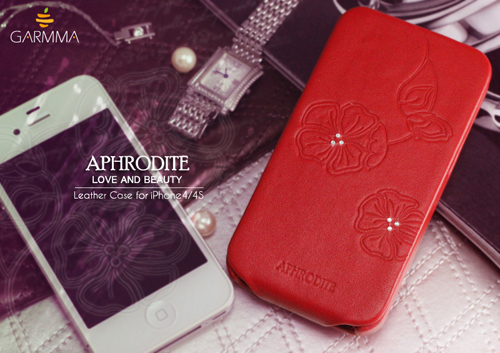 (古希臘神話-阿芙羅黛蒂) GARMMA Aphrodite iPhone4 / iPhone4S 折疊式皮套