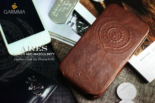 (古希臘神話系列-阿瑞斯)GARMMA Ares iPhone 4 / iPhone 4S 折疊式皮套