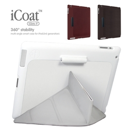 OZAKI iCoat Slim-Y iPad 2 / iPad 3 雙向多角度Y型智能皮套
