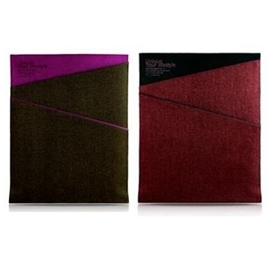 最終特惠!EVOUNI iPad 斜紋丹寧保護套 二入組 (黑紅+黑紫)