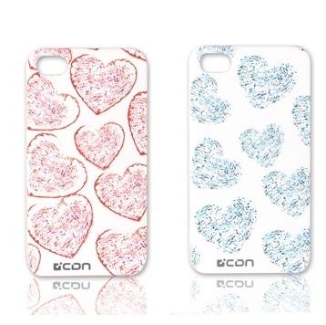 CDN iPhone 4 / iPhone 4S 愛心造型保護背蓋 (共2色可選)