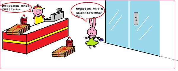 小笨兔買pizza-2