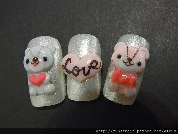 甜蜜熊熊甲片作品