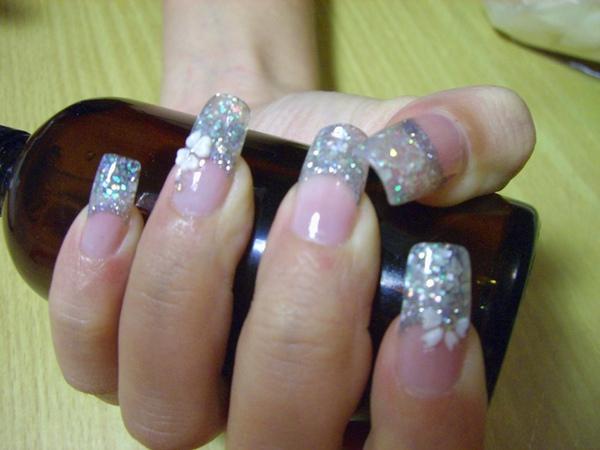 貝殼銀白法式水晶