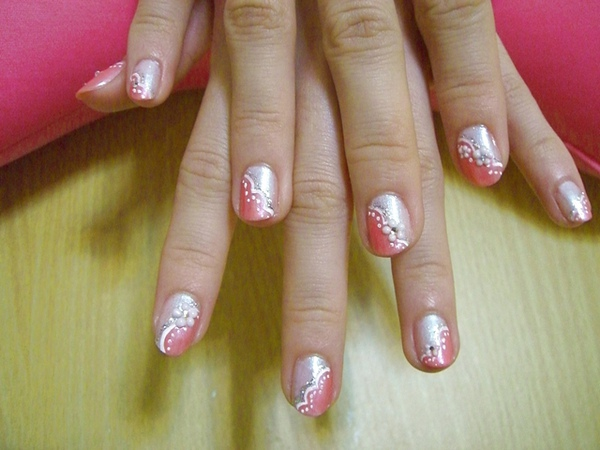 彩繪-粉紅小花