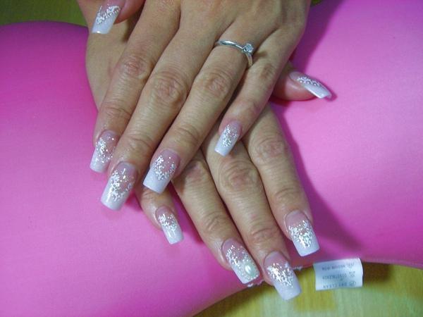 銀霧白變化法式蕾絲新娘款