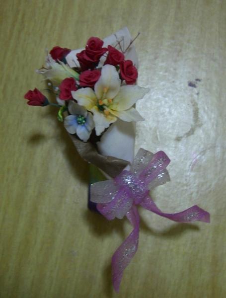 粉雕情人節花束