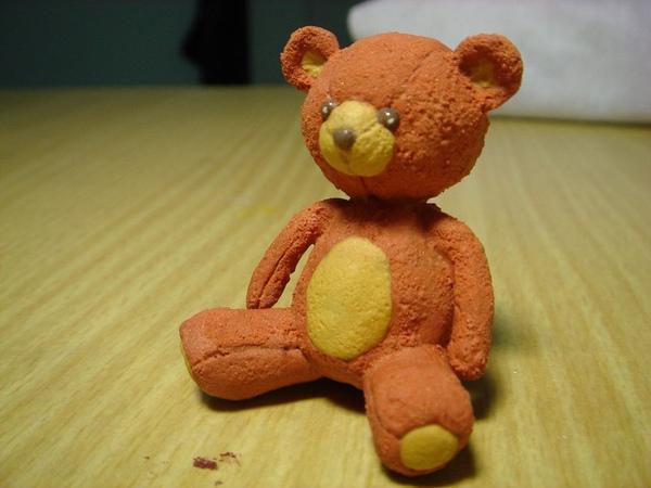 3D粉雕作品之泰迪小小熊