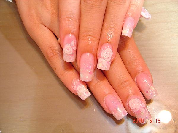 水晶-粉紅璀璨水晶加玫瑰粉雕