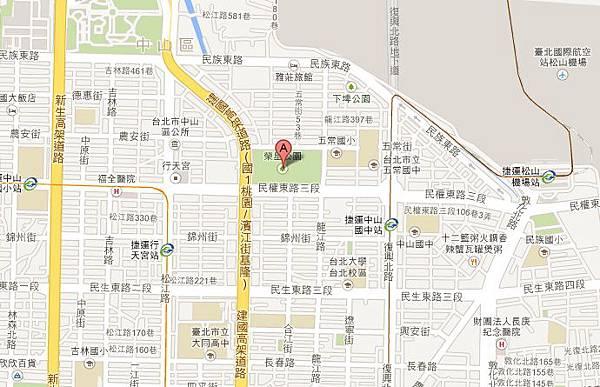 台北榮星公園地圖