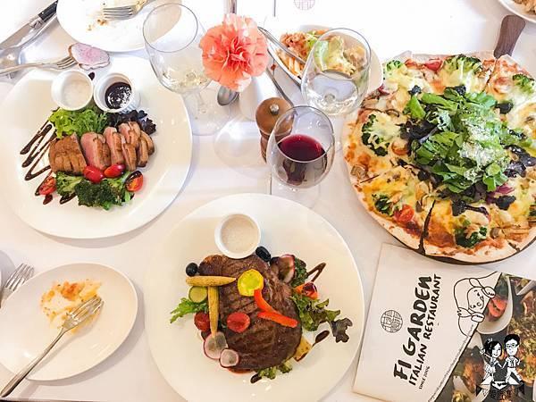 【台中│西屯】菲菲花園義式餐廳,換個用餐思維和親愛的你更貼近,義式料理/聚餐推薦/2018
