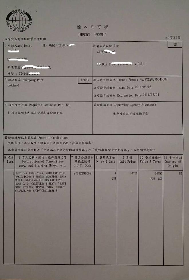 輸入許可證IP