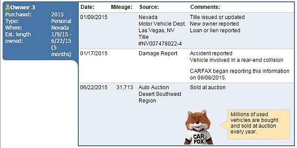 carfax事故報告