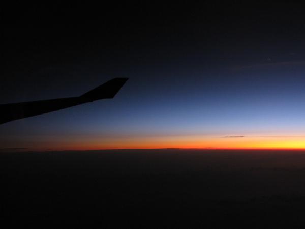 飛機上的曙光