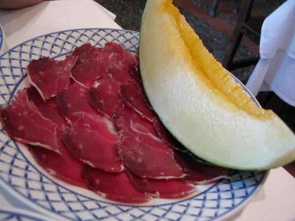 哈密瓜與火腿