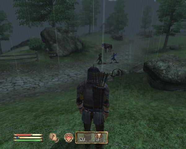 帝國士兵與我的護衛互幹