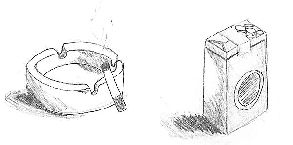 煙灰缸香菸