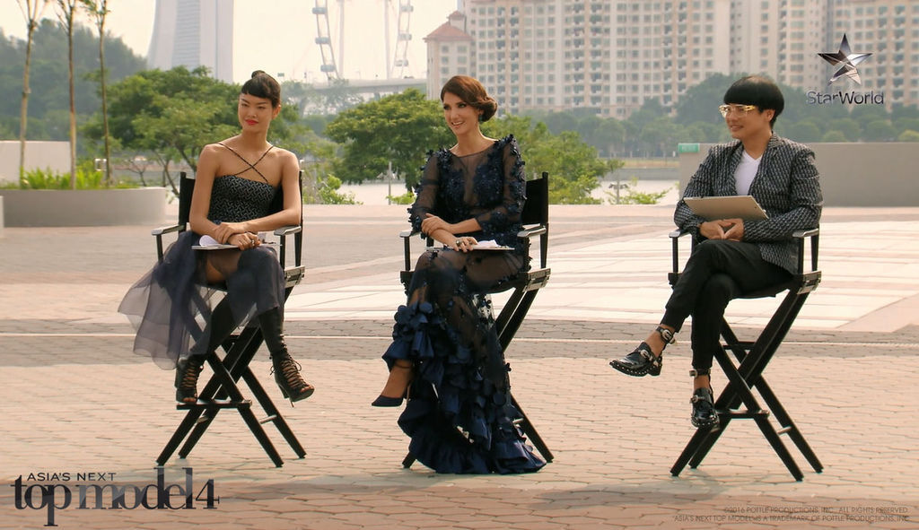 Judges on set for the first challenge.jpg