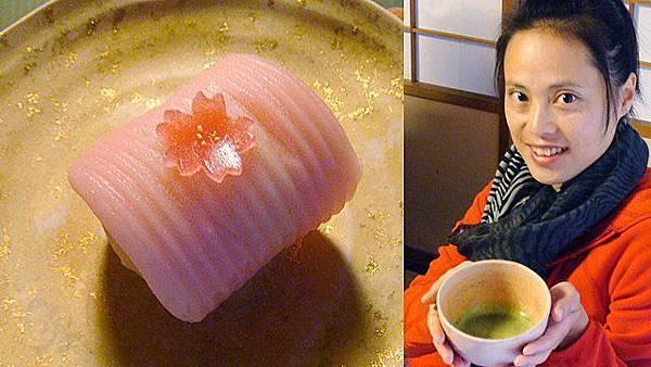 【春櫻和菓子】去宇治茶庵喝抹茶體會日本「一期一會」的精神。穿著和服的老師為每人親自泡抹茶+櫻花和菓子(現在春天是櫻花的感覺,若秋天換成栗子和菓子也說不定)。每季都去喝,會發現和菓子也體現季節,都不一樣呢!珍惜每次的相聚吧~推薦給大家^ O^
