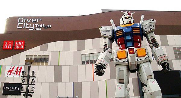【鋼彈現身】在東京台場Diver City plaza(2012.0419開幕),別錯過啦