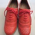 平光感粗跟牛津踝靴