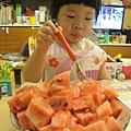 心花怒放吃西瓜