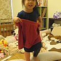 穿媽咪的大褲子