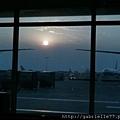 機場看日出