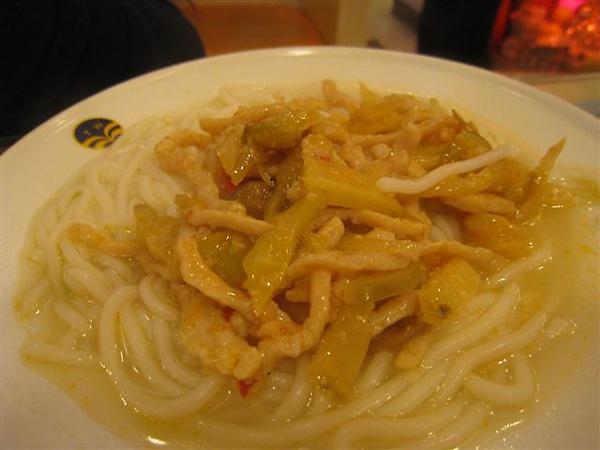 榨菜肉絲麵 翠華餐廳