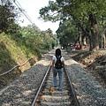 已變成觀光區的集集舊鐵路