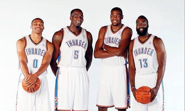 Oklahoma City Thunder Durant Westbrook Harden Perkins