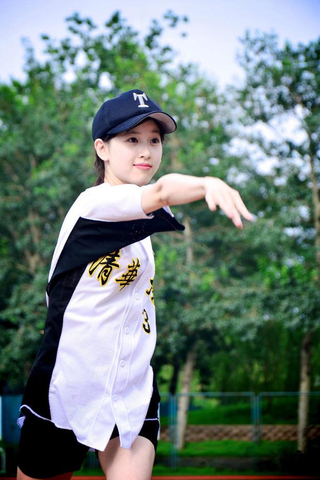 「奶茶妹」章澤天 小清新棒球裝