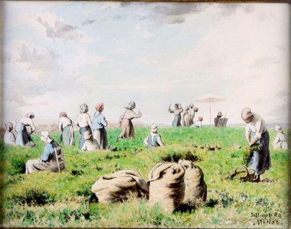 採豆 Women Picking Beans