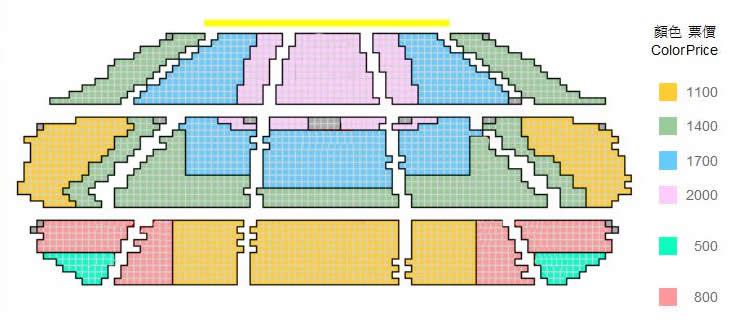 電玩交響夜票價座位區