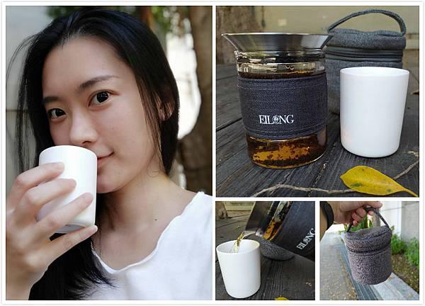 宜龍EILONG-茶覺系列的旅行茶具組,玻璃茶壺專利壺蓋設計,打造出喝茶的新態度!