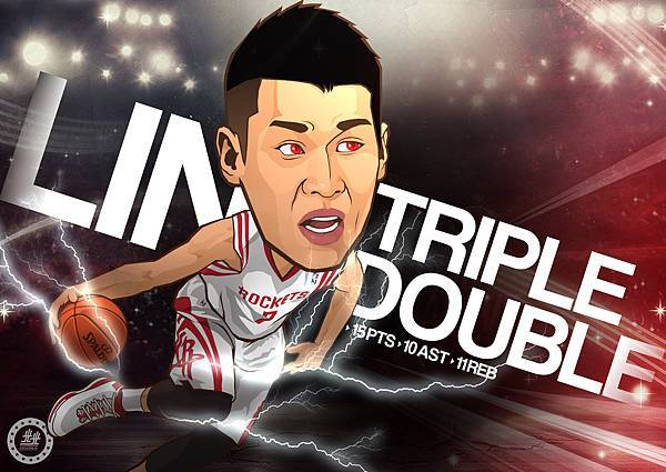 Jeremy Lin first Triple Double
