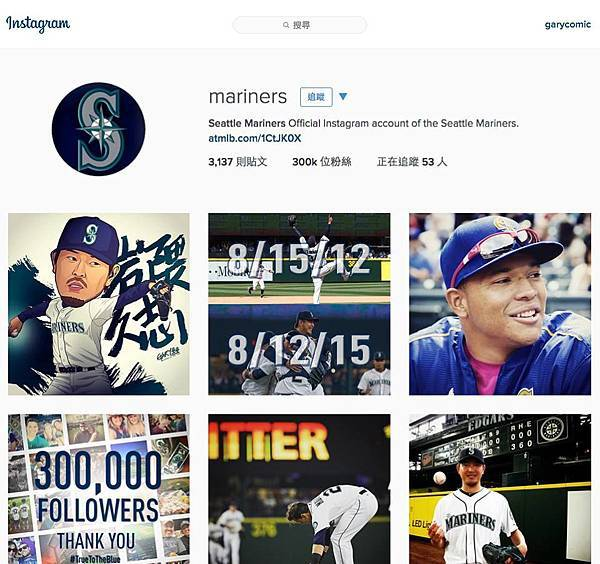 Seattle Mariners官方Instagram