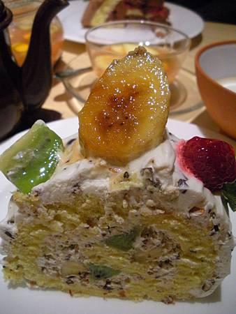 香蕉奇異果蛋糕卷