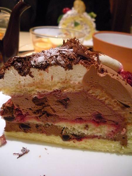 覆盆莓巧克力慕斯蛋糕